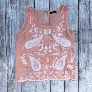 Francesca's | Beaded and Sequined Top | Small